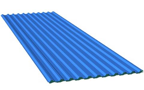 tấm lợp composite 11 sóng xanh