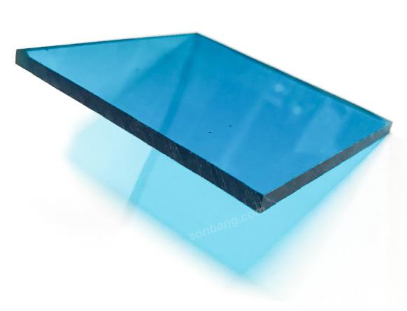tấm nhựa polycarbonate xanh dương